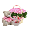 подарок Для маленькой розы, игрушка и сладости