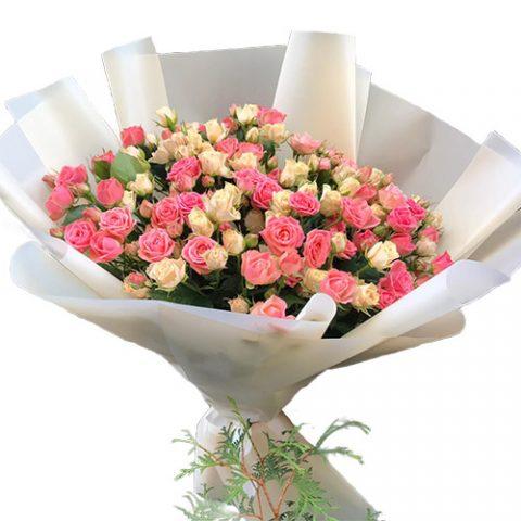 33 кустовые розы
